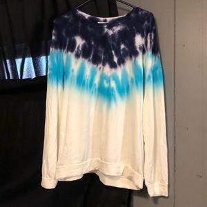 Long sleeve 2 tone dip dye too